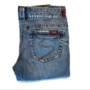 Silver Low-Rise Tuesday Jeans